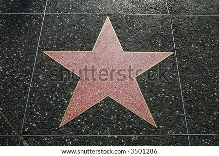 Empty star on the Hollywood Walk Of Fame, California, USA - stock photo