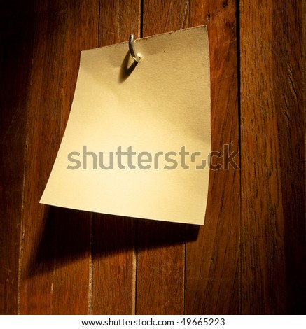 Empty sticker on a wooden fence - stock photo