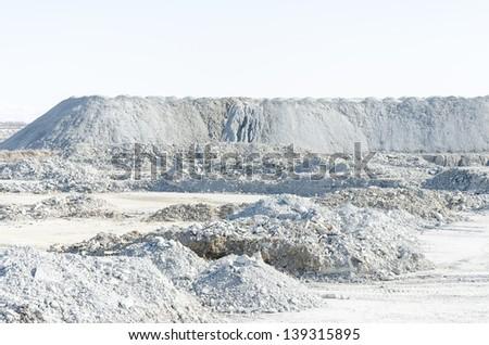 Empty stone pit - stock photo