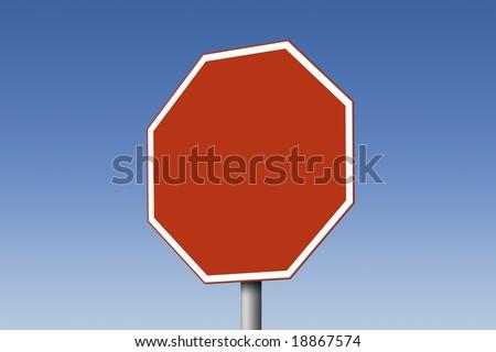 Empty stop sign - stock photo
