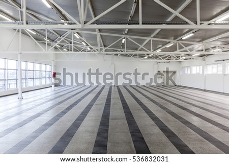 empty storage place, industrial background