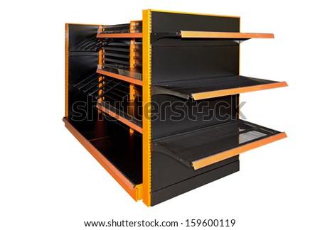 Empty store shelves - stock photo