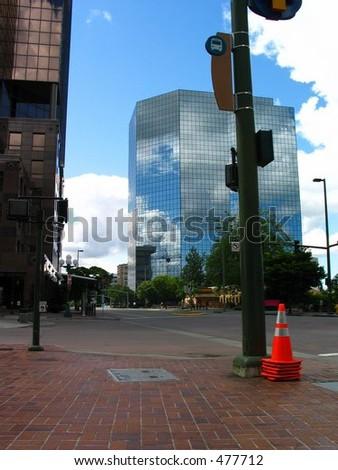 Empty Street in Bellevue, Washington - stock photo