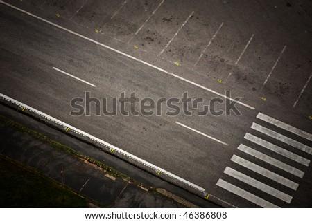 empty street road - stock photo