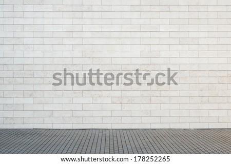Empty street wall background, texture - stock photo