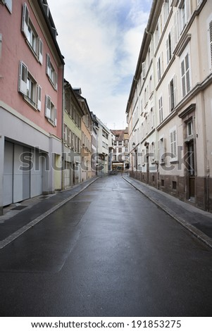 Empty streets in France