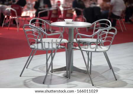 empty table with for chairs