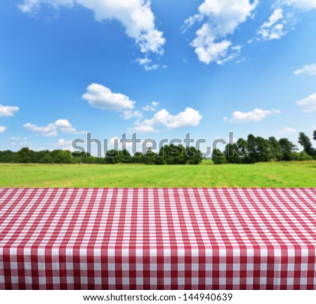 Empty tabletop for product display montages - stock photo