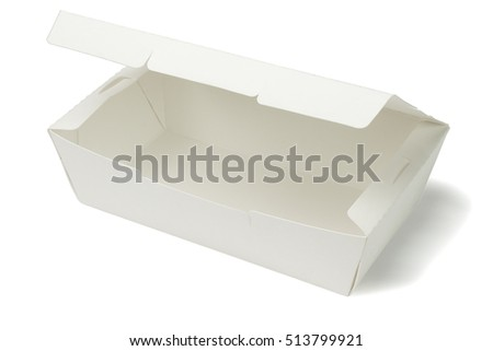 Empty Takeaway Box on White Background