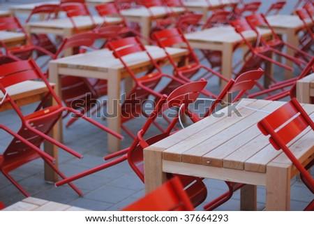 Empty Terrace - stock photo