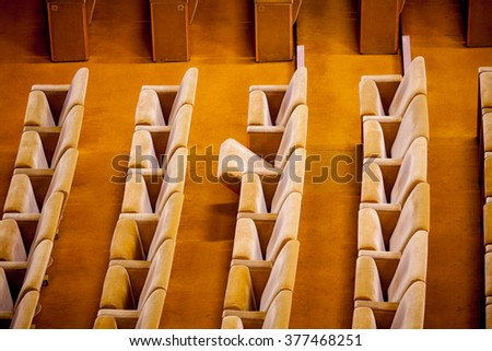 Empty theater interior auditorium cinema or conference hall.  - stock photo