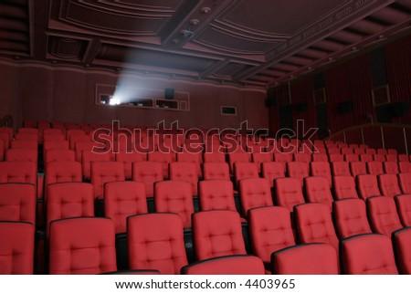 empty theatre auditorium cinema or conference hall. - stock photo