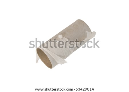 Empty Toilet Paper - stock photo