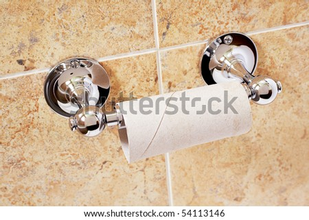 Empty toilet roll - stock photo
