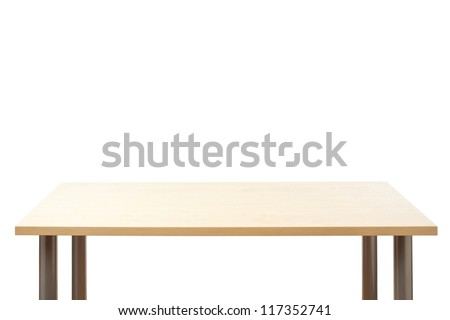 Empty top of the table, isolated. - stock photo