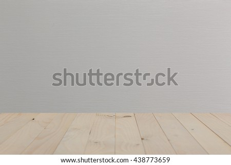 Empty top of wooden table or counter isolated on  background. For product display