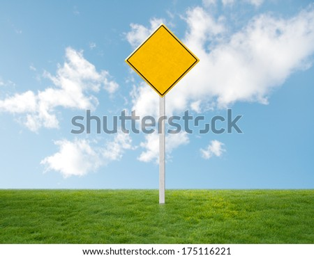 empty traffic sign