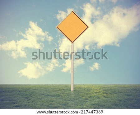 empty traffic sign - stock photo