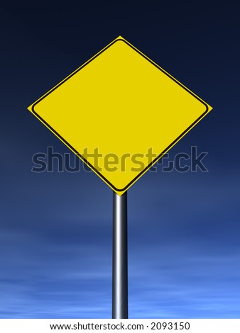 Empty traffic sign. Fill it with your graphics. - stock photo