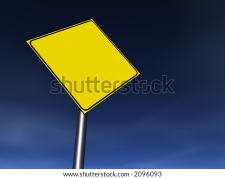 Empty traffic sign. Fill it with your graphics - stock photo