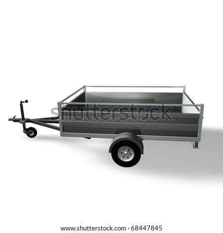 Empty trailer - stock photo
