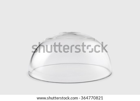 Empty transparent glass dome  - stock photo
