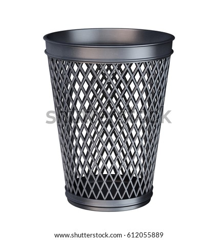 EMpty trash can 3d illustration