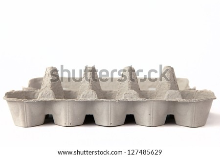 Empty tray for eggs. - stock photo