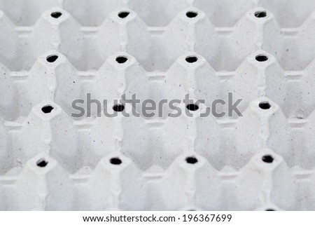 Empty tray of eggs - stock photo