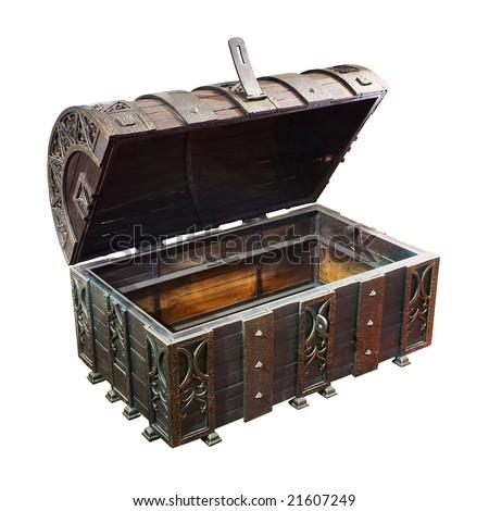 Empty treasure Chest - stock photo