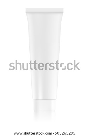 empty tube of toothpaste or cream. package mock up