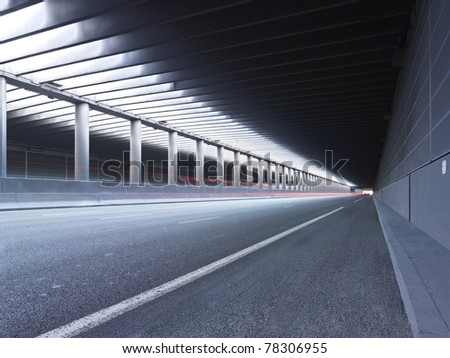 Empty Tunnel Paris - stock photo
