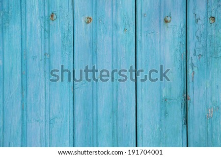 Empty turquoise wooden background. - stock photo