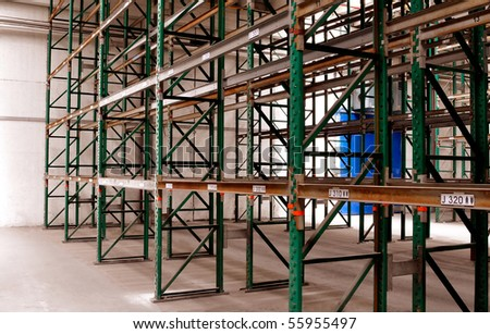 Empty used rack system - stock photo