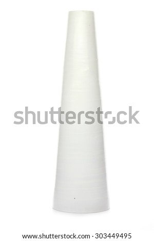 empty vase isolated on white background - stock photo