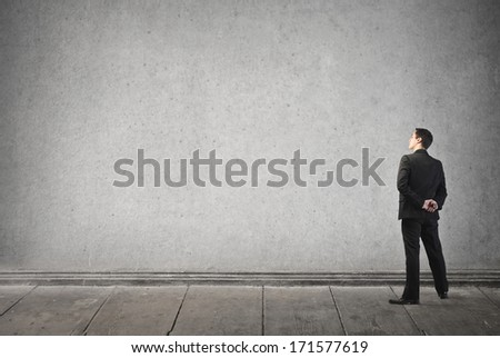 empty wall - stock photo