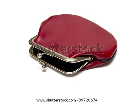 empty wallet on a white background - stock photo