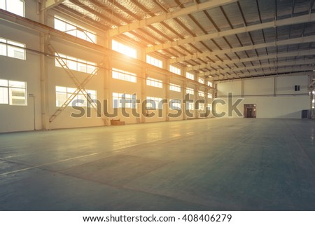 empty warehouse - stock photo