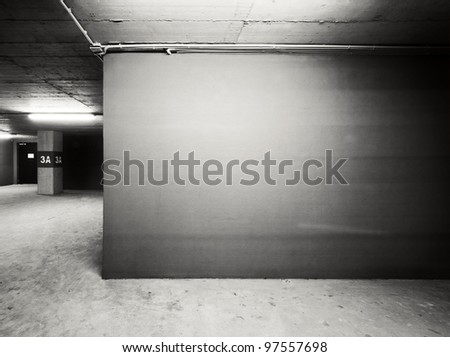 Empty warehouse wall, can be used as industrial background