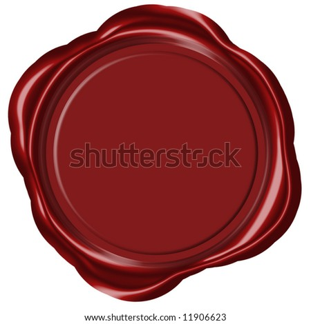 Empty wax seal - stock photo