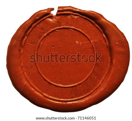 Empty wax seal  on white - stock photo