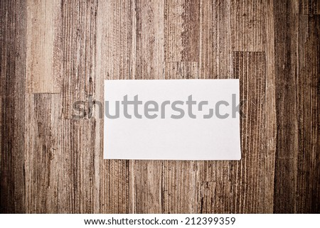 Empty white blank space on aged wood wall texture.  - stock photo