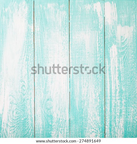 Empty white blue wooden texture top view. - stock photo