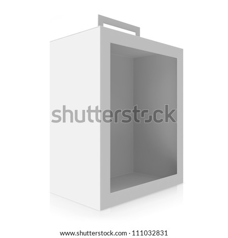 Empty White Box isolated on white background