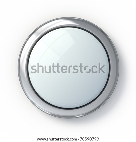 Empty white button - stock photo