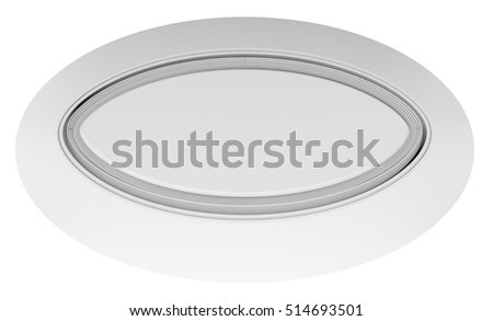 Empty White Circle Table Top View Background 3D Rendering