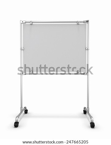 Empty white office board front view. - stock photo
