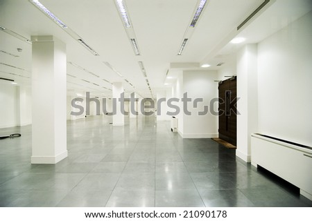 empty white office in white colour - stock photo