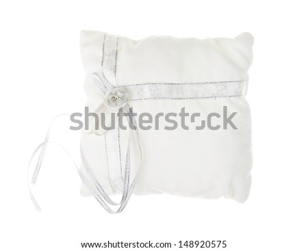 Empty white pad for wedding