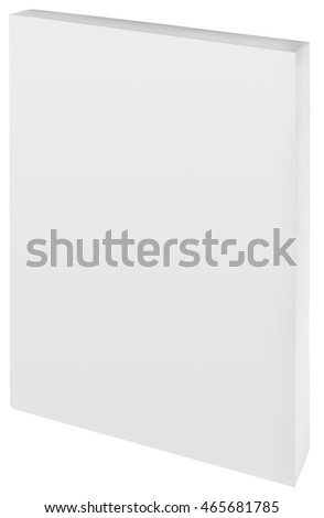 Empty White Paper Back Book Cover Cutout